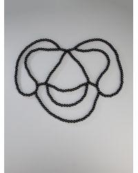 Saskia Diez - Black Lace Cape Necklace - Lyst