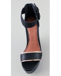 Elizabeth and James - Black Sibil Wedge Platform Sandals - Lyst