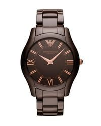 Emporio Armani | Brown Ceramic Watch for Men | Lyst