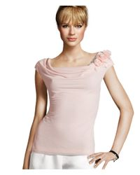 H&M - Pink Cowl Neck Top - Lyst