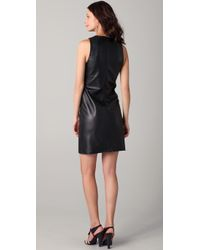 Kelly Bergin - Black Leather Shift Dress - Lyst