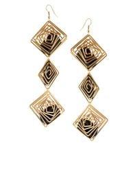 ASOS | Metallic Asos Cage Drop Earrings | Lyst