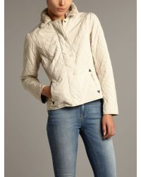 Barbour - Natural Philli Quilted Jacket - Lyst