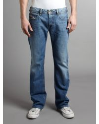 DIESEL | Blue Diesel Zatiny 73p Bootcut Jeans for Men | Lyst