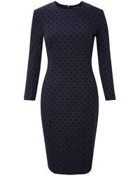 French Connection | Blue Velvet Spot Dress | Lyst
