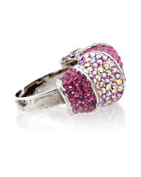 Gemini | Purple Fuchsia Ring with Swarovski Crystals | Lyst