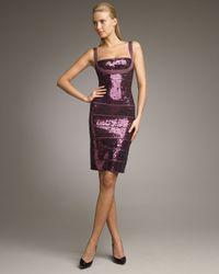 Hervé Léger | Purple Sequined Bandage Dress | Lyst
