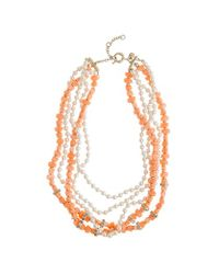 J.Crew | Pink Pearl and Coral Necklace | Lyst
