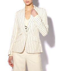 Lauren by Ralph Lauren | Natural Valerine Linen-blend Jacket | Lyst