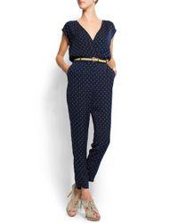 Mango | Blue Print Flower Jumpsuit | Lyst