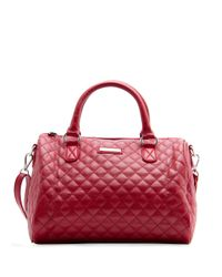 Mango | Red Quilted Bowling Handbag | Lyst