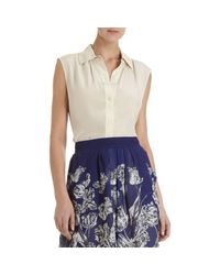 Marc By Marc Jacobs | White Button Front Sleeveless Blouse | Lyst