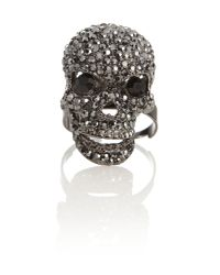Mikey | Black Small Skull Rings | Lyst