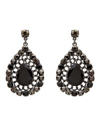 Mimco | Black Liquid Glamour Earrings | Lyst