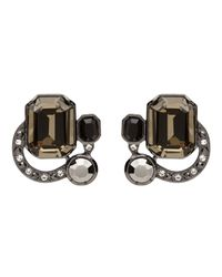 Mimco | Black Oberon Crystal Stud Earrings | Lyst