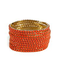 R.j. Graziano - Orange Set Of Ten String Bracelets - Lyst
