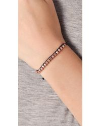 Shashi | Black Rose Gold Nugget Bracelet | Lyst