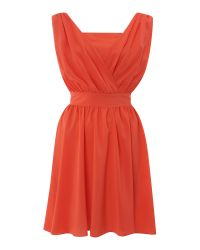 Sodamix | Orange Pippa Plain Dress | Lyst