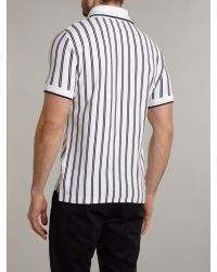 Vivienne Westwood | White Baseball Stripe High Collar Polo Shirt for Men | Lyst