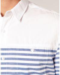 ASOS Collection - Blue Asos Horizontal Breton Stripe Shirt for Men - Lyst