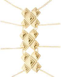 ASOS - Metallic Asos Criss Cross Body Harness - Lyst