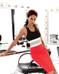 Carolina Herrera | Black Colorblock-waist Dress | Lyst