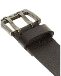 DIESEL - Black Diesel Twodent Belt for Men - Lyst