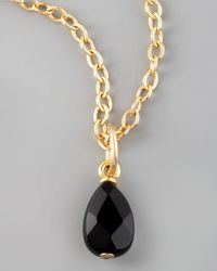 Dogeared - Black Onyx Charm - Lyst