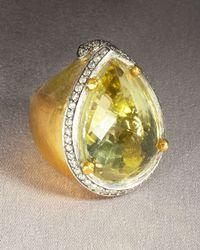 Doris Panos | Metallic Lemon Topaz Ring | Lyst