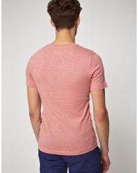 G-Star RAW - Pink Gstar Bleecker Vneck Tshirt for Men - Lyst