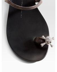 Giuseppe Zanotti | Metallic Toe-ring Skull Sandals | Lyst