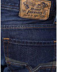 DIESEL - Blue Diesel Larkee 8j4 Straight Jeans for Men - Lyst