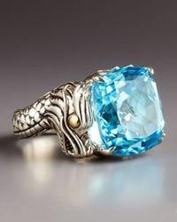 John Hardy | Metallic Naga Batu Ring Blue Topaz | Lyst