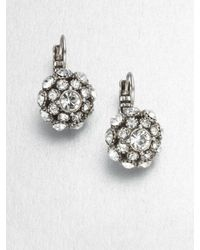 kate spade new york | Metallic Lady Marmalade Ball Leverback Earrings/Silvertone | Lyst
