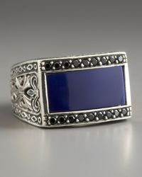Konstantino   Blue Agateinlay Ring for Men   Lyst