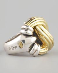 Lagos - Yellow Knot Ring - Lyst