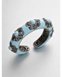 M.c.l  Matthew Campbell Laurenza | Natural Multicolored Sapphire Accented Enamel Floral Bracelet | Lyst