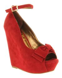 Office | Red Office Wonderland Wedge High Heels | Lyst