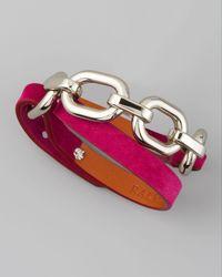 Ralph Lauren | Purple Suede Wrap Bracelet Fuchsia | Lyst