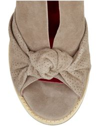 Belle By Sigerson Morrison - Brown Suede Peep-toe Wedge Sandals - Lyst