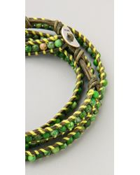 Chan Luu - Green Beaded Wrap Bracelet - Lyst
