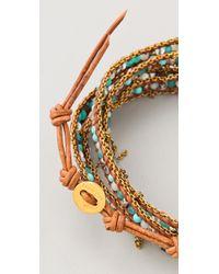 Chan Luu - Blue Bead Chain Wrap Bracelet - Lyst
