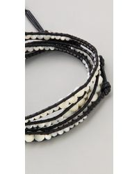 Chan Luu - White Beaded Wrap Bracelet - Lyst