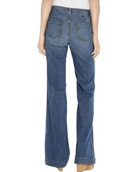 J Brand - Blue Bette Highrise Flared Jeans - Lyst