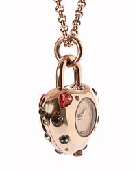 Marc By Marc Jacobs - Metallic Rose Gold Jewel Pendant Watch - Lyst