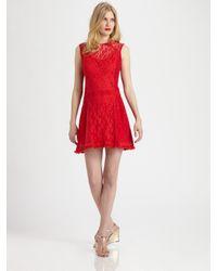 Nanette Lepore   Red Sunset Boulevard Shift Dress   Lyst