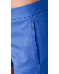 Theory - Blue Noalda Shorts - Lyst