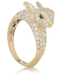 Anita Ko - Pink Bunny 18karat Gold Diamond and Emerald Ring - Lyst