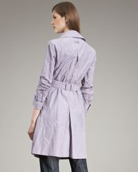 Armani   Purple Belted Trench   Lyst