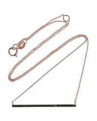 Diane Kordas | Pink 18karat Rose Gold Diamond Necklace | Lyst